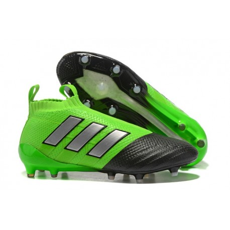adidas New ACE 17+ Purecontrol FG Football Boots Green Black Silver