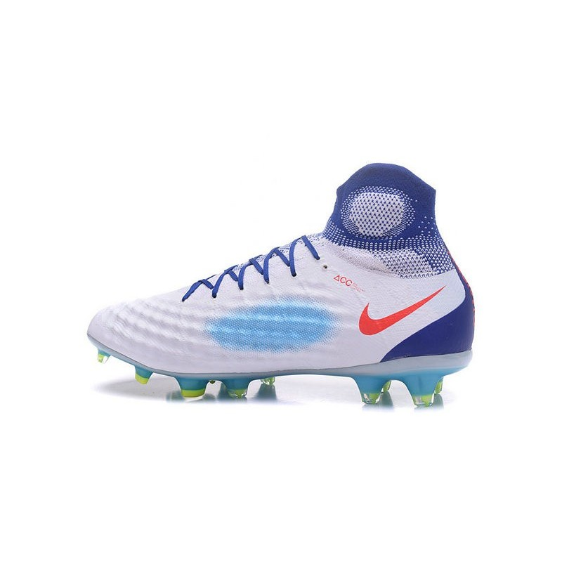best loved dbbe6 93ffb Nike Magista Obra II FG Soccers Football Shoes Blue White Red