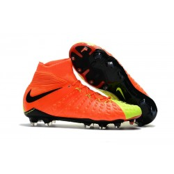 Nike Hypervenom Phantom 3 DF Flyknit FG Cleat - Orange Yellow