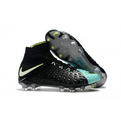 Nike Hypervenom Phantom 3 DF Flyknit FG Cleat - Black Blue