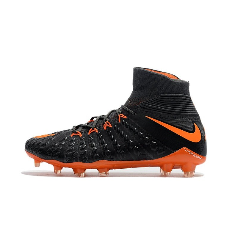 separation shoes c4adb 61dbd Nike Hypervenom Phantom 3 DF Flyknit FG Cleat - Black Orange