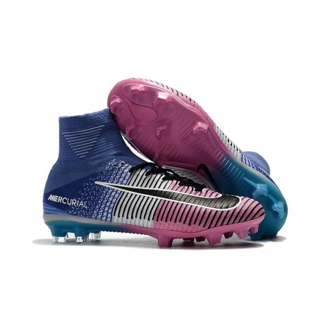 online retailer f2d76 dfdcf Nike Mercurial Superfly 5 FG New Soccer Boots Blue Pink Black