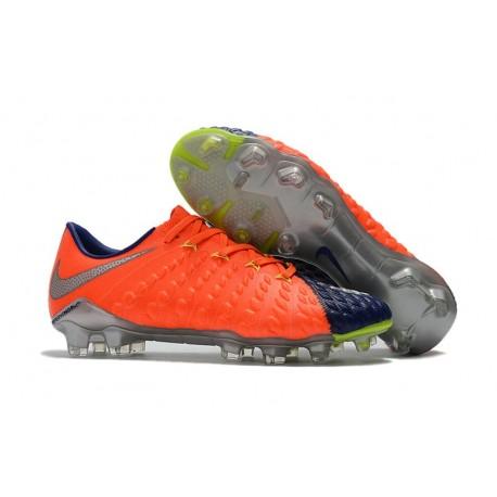 New Nike Hypervenom Phantom 3 Firm Ground Shoes Orange Cyan Silver