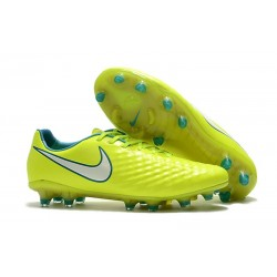 New Nike Magista Opus II FG Soccer Cleat Yellow White