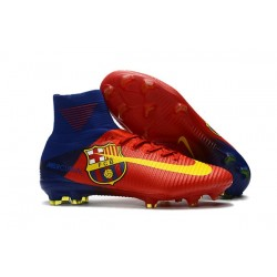 Nike Mercurial Superfly V FG Man Soccer Cleats Barcelona Red Yellow