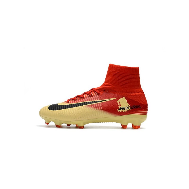 buy popular 8f1e8 204f1 ... football 2018 prix shoes 75eea 4f8c7  spain nike mercurial superfly v  fg man soccer cleats red yellow maximize. previous. next