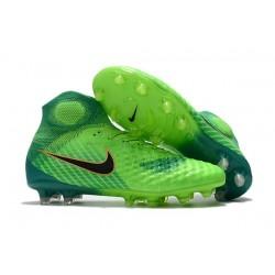 Nike Magista Obra II FG High Top Soccer Boot Green Blue