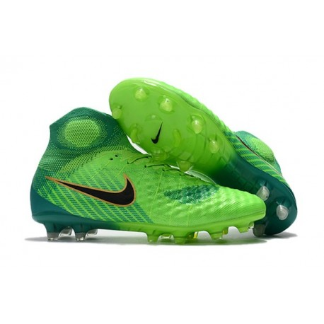 Nike Magista Obra II FG High Top Soccer Boot Green Blue
