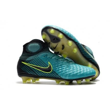 Nike Magista Obra II FG High Top Soccer Boot Blue Black