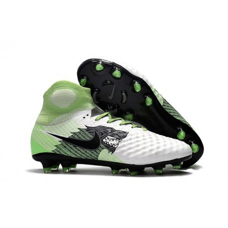 Nike Magista Obra 2 FG Firm Ground Football Shoes - White Black Green