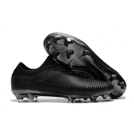 Nike Mercurial Vapor Flyknit Ultra FG Firm Ground Boots Full Black