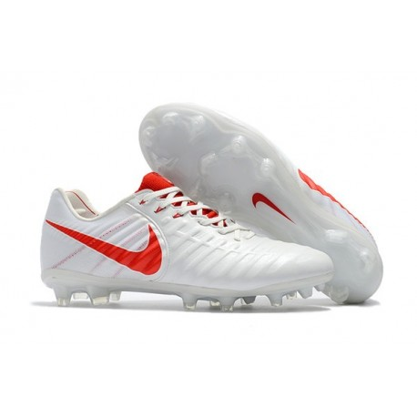 Nike Tiempo Legend VII FG K-Leather News Soccer Cleat - White Red