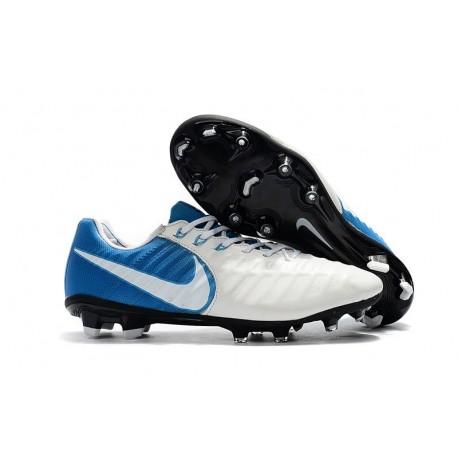 Mens Nike Tiempo Legend 7 FG Football Boot White Blue