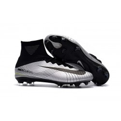 Nike Mercurial Superfly V FG Man Soccer Cleats Silver Black