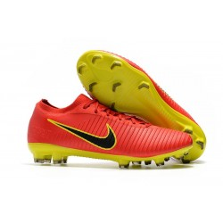 Nike Mercurial Vapor Flyknit Ultra FG Firm Ground Boots Red Yellow