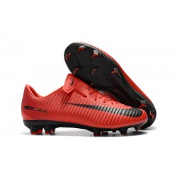 Nike Mercurial Vapor XI FG Firm Ground Soccer Cleat - Red Black