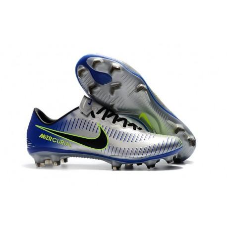 Nike Mercurial Vapor XI FG Firm Ground Soccer Cleat - Silver Blue