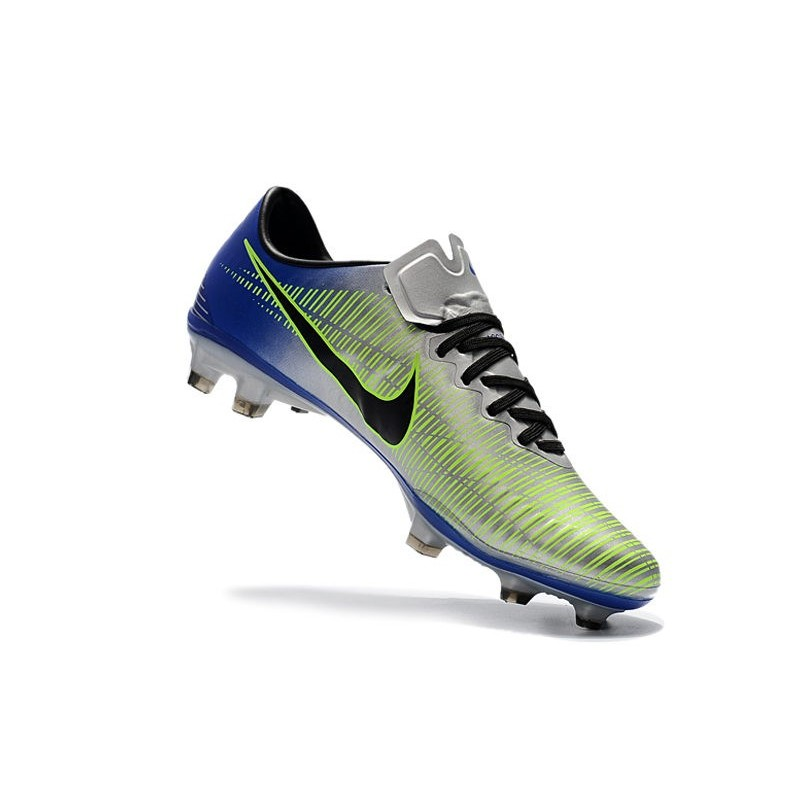 25ef087c587a5 Nike Mercurial Vapor XI FG Firm Ground Soccer Cleat - Silver Blue Maximize.  Previous. Next