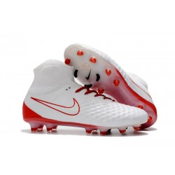 Nike Magista Obra 2 FG Firm Ground Football Shoes - White Red