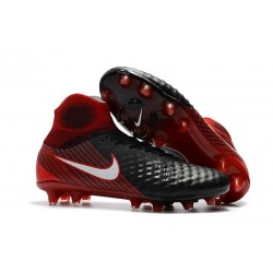 Nike Magista Obra 2 FG Firm Ground Football Shoes - Black Crimson