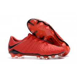 New Nike Hypervenom Phantom III FG New Soccer Boots - Red Black
