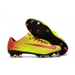Nike Mercurial Vapor XI FG Firm Ground Soccer Cleat - Yellow Red