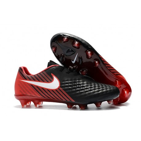 New Nike Magista Opus II FG Soccer Cleat Black Red