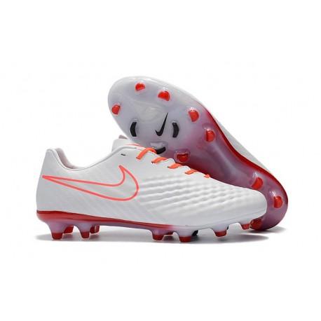 New Nike Magista Opus II FG Soccer Cleat White Orange