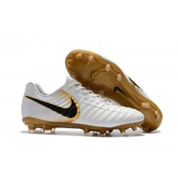 Mens Nike Tiempo Legend 7 FG Football Boot White Gold
