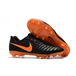 Mens Nike Tiempo Legend 7 FG Football Boot Black Orange