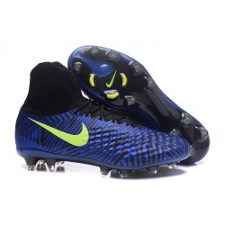 New 2017 Nike Magista Obra 2 FG ACC Football Cleat Deep Blue Black Volt