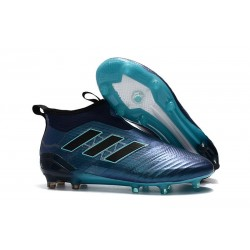 adidas ACE 17+ Purecontrol FG Firm Ground Cleats Deep Blue Black