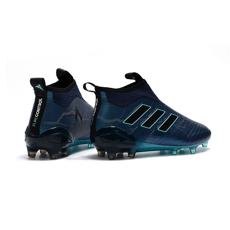 new concept 96d1f afb0c adidas ACE 17+ Purecontrol FG Firm Ground Cleats Deep Blue Black