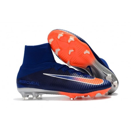 Nike Mercurial Superfly 5 FG Firm Ground Boot - Blue Orange