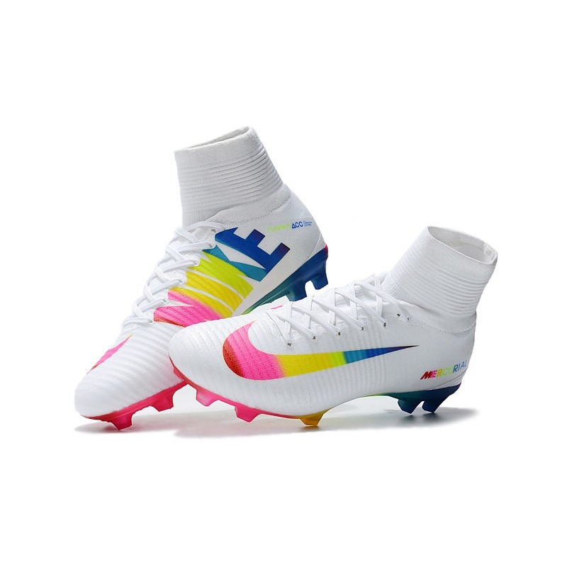 a17c648d2 Nike Mercurial Superfly 5 FG Firm Ground Boot -White Rainbow Maximize.  Previous. Next