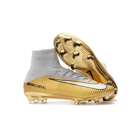Nike Mercurial Superfly 5 FG Firm Ground Boot - CR7 Quinto Triunfo Gold White