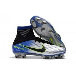 Nike Neymar Mercurial Superfly 5 FG Firm Ground Boot - Chrome Blue Black