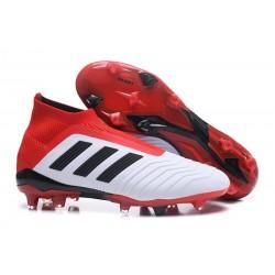 adidas Men's Predator 18+ FG Soccer Boots White Red Black