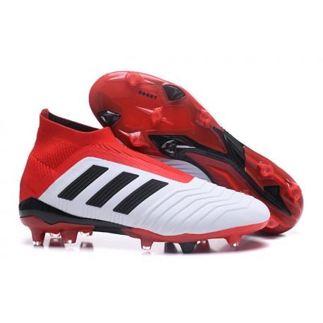 cd7deda99d0 adidas Men s Predator 18+ FG Soccer Boots White Red Black