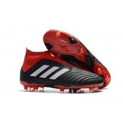 adidas Men's Predator 18+ FG Soccer Boots Black Red White