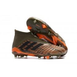 adidas Men's Predator 18+ FG Soccer Boots Trace Olive Orange Black