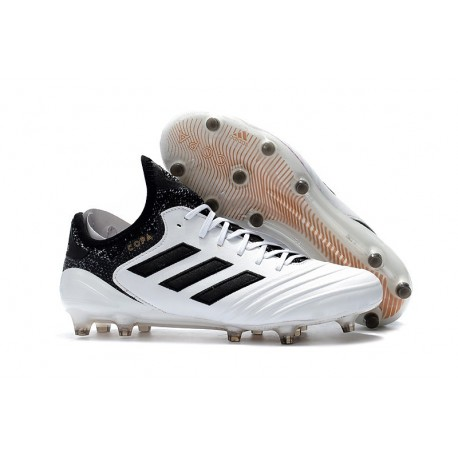 adidas Men's Copa 18.1 FG Soccer Cleats White Black
