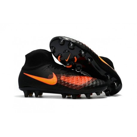 New 2017 Nike Magista Obra 2 FG ACC Football Cleat Black Orange