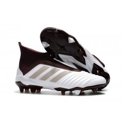 adidas Men's Predator 18+ FG Soccer Boots White Brown