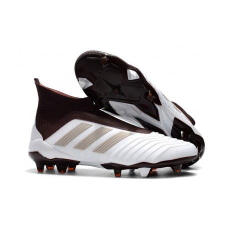 96610c3d9 adidas Men s Predator 18+ FG Soccer Boots White Brown