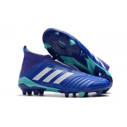 adidas Men's Predator 18+ FG Soccer Boots Blue White