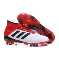 New adidas Predator 18.1 FG Soccer Shoes White Red Black