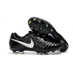 Mens Nike Tiempo Legend 7 FG Football Boot Black White