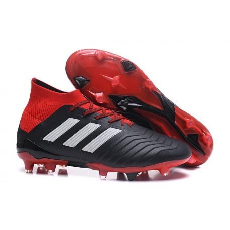 adidas predator fg rosso grigio