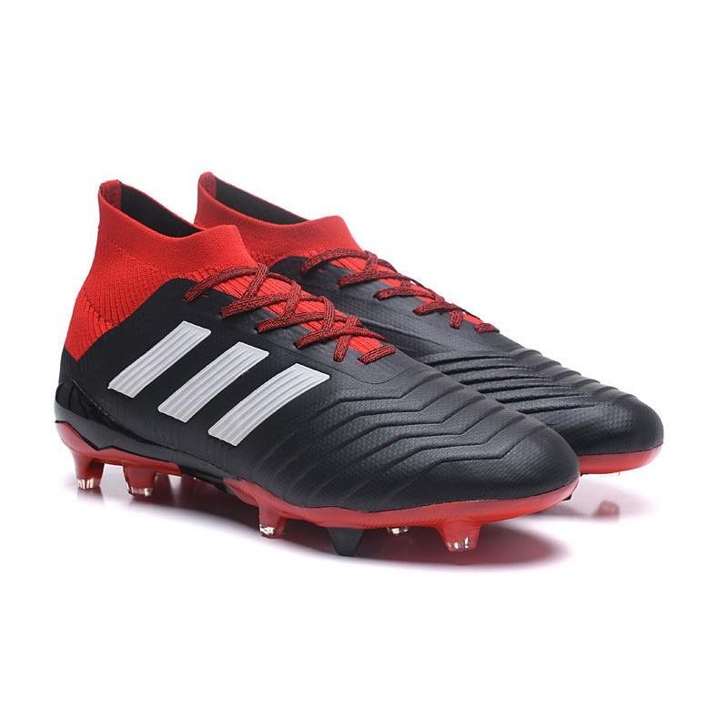 c93919f5e64 ... new adidas predator 18.1 fg soccer shoes black red white maximize.  previous. next